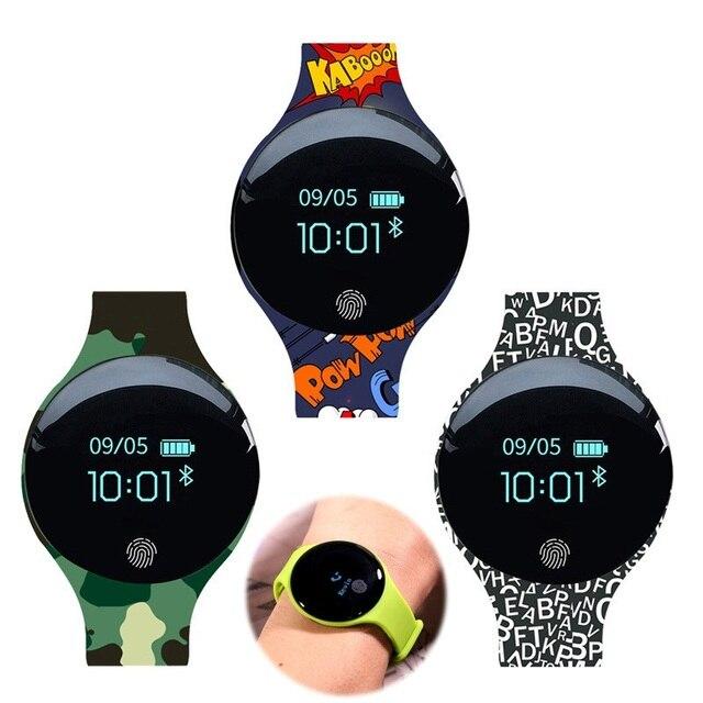 Pulsera inteligente JQAIQ a la moda para Fitness banda de seguimiento de actividad podómetro Bluetooth Oled pulsera inteligente para teléfono inteligente Android Ios