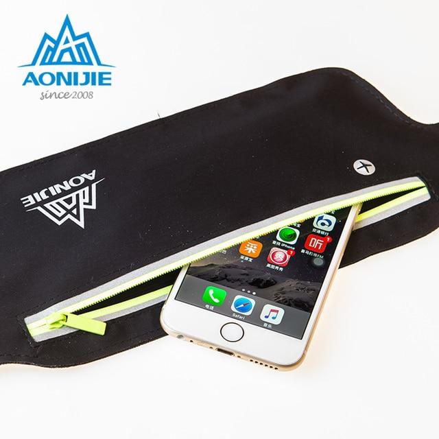 AONIJIE Runnning Waist Bag Men Women Sport Waist Pack Jogging Gym Fitness Running Belt Bag Phone Holder Sport Accessories 4