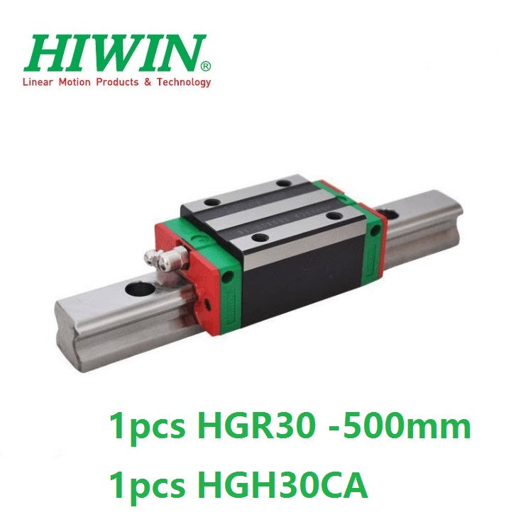 1pcs 100% original Hiwin linear guide HGR30 -L 500mm + 1pcs HGH30CA narrow block for cnc router 1pcs hiwin rgw65 rgw65hc rg65 high rigidity roller type linear guide block original hiwin rolling linear guide cnc parts stock