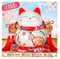 Lucky cat gold stone workshop counter genuine led cash cow tree ceramic home decoration company shop ornaments ceramic