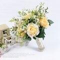 2017 Новый Свадебный Букет Свадебные Букеты Искусственные Цветы Букет Для Невесты Розовый Дешевые Грос Де Mariage