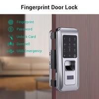 Биометрический Дверной кодовый замок отпечатков пальцев умный электронный замок Пароль устройство чтения RFID дверной замок электронные го
