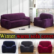 Sofa Abdeckung Schwarz Engen Stretch Handtuch Vier Sitz universelle elastischen l-förmigen sofa bezugsstoff housse de canape Elastische Schutzhülle