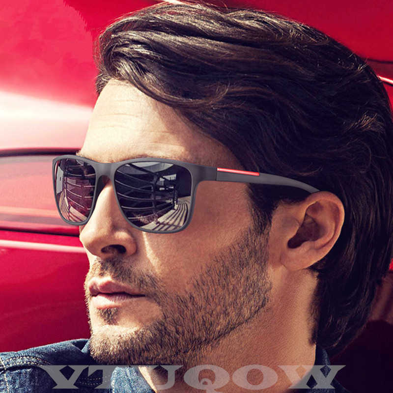 High Quality Sunglasses Men Brand Designer Classic Driving Square Frame Vintage Sunglass Male Sun Glasses For Men ray bann UV400