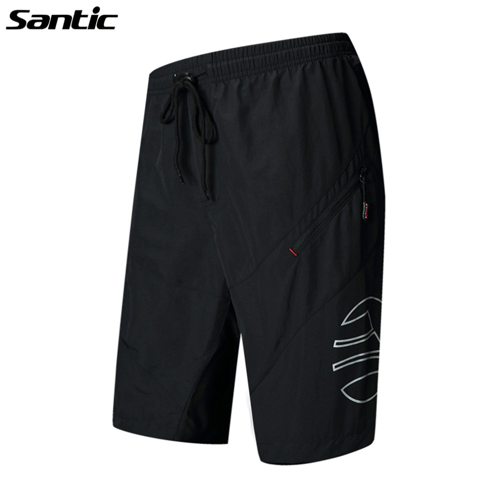 SANTIC 1/2 Leisure Cycling Shorts With 3D Padded Bike Bicycle Shorts Sportswear MTB Bike Breathable Shorts Loose Cycling Clothes fashionable leisure conjoined shorts page 4
