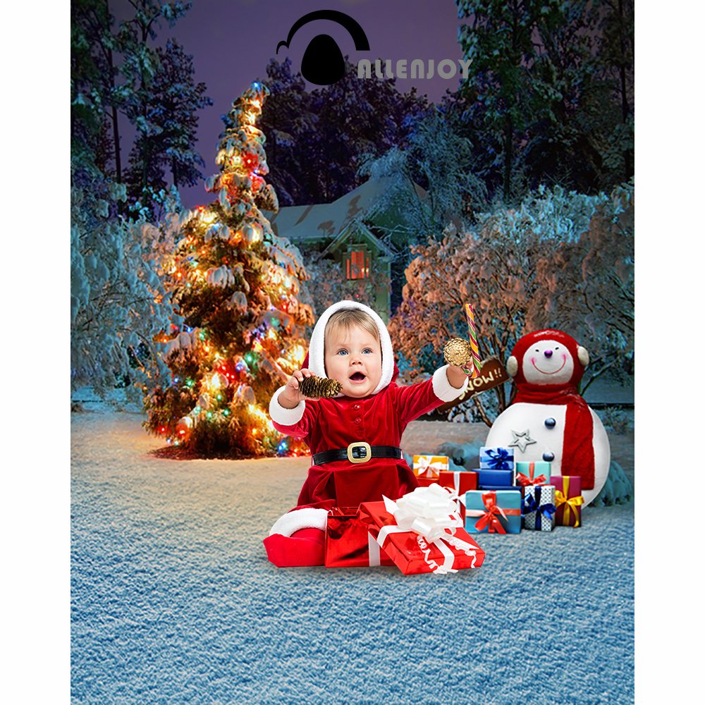 Christmas background photography studio Snowman presents winter child new Year Fairy tale wonderland camera fond studio noel christmas background pictures vinyl tree wreath gift window child photocall fairy tale wonderland camera photo studio backdrop