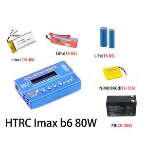 Image 5 - HTRC iMAX B6 80W 6A סוללה מטען Lipo NiMh ליתיום Ni Cd הדיגיטלי RC מטען Lipro מאזן מטען פורק + 15V 6A מתאם