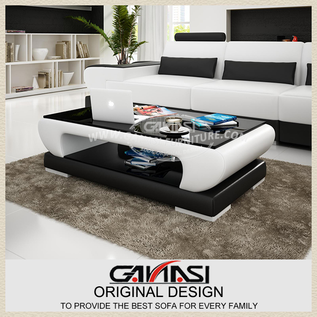 Simple Modern Fashion Gl Coffee Table Leather Cover Living Room In Tables From Furniture On Aliexpress Alibaba