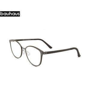 Image 2 - Bauhaus Cat Eye Eyewear Frames Women frame 3in1 memory core inside Polarized Magnet Clip sunglasses optical glasses
