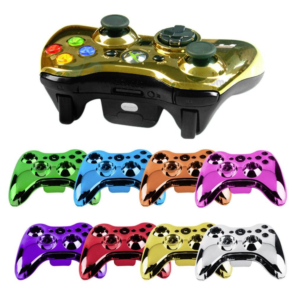Caso Shell para Xbox 360 Wireless Controller Bluetooth 360 Bumper Jogo para Xbox360 Thumbsticks Botões Digital Polonês