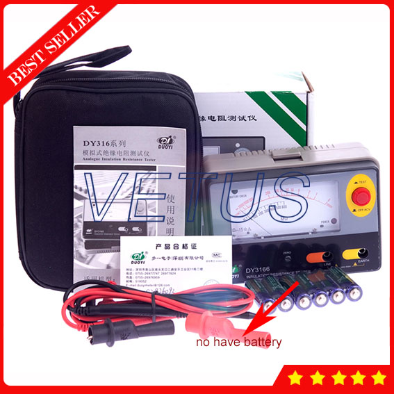 DY3166 1000V Analogue Aislamiento Megger for High precision pointers type Insulation Resistance Tester  цены