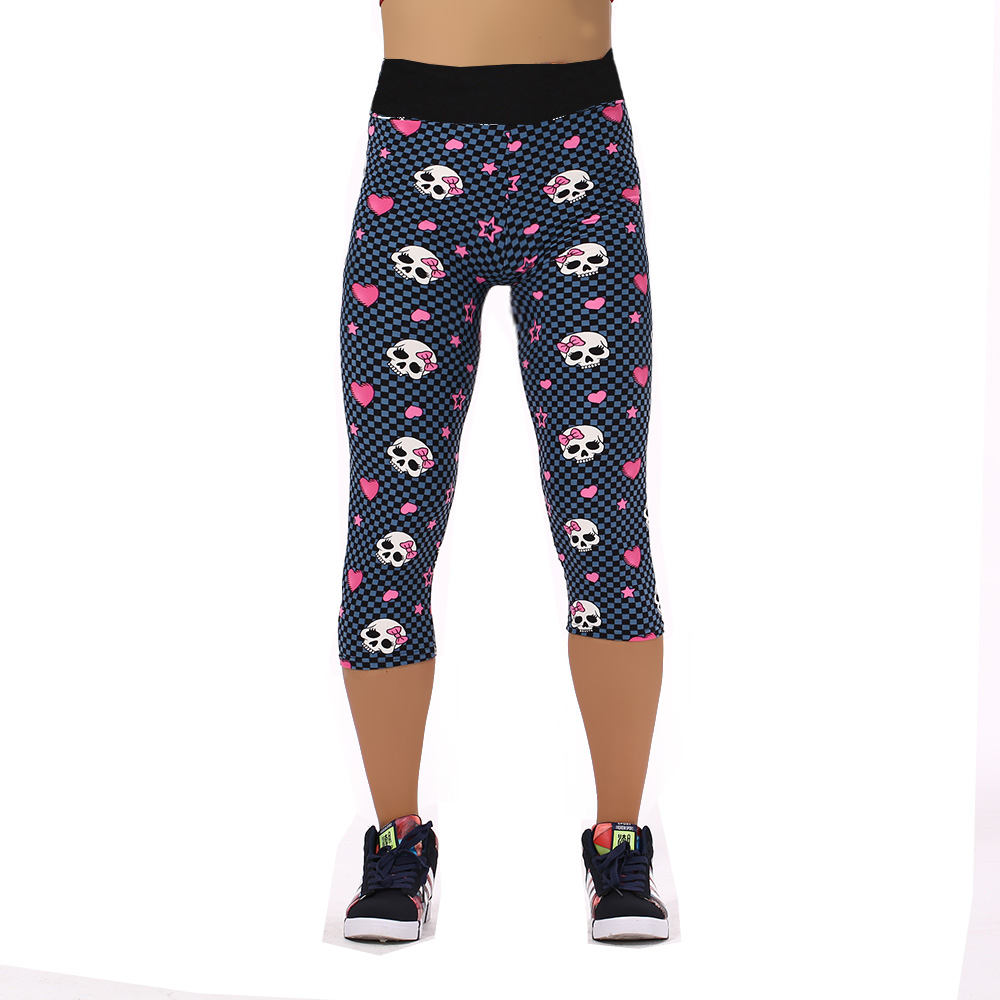 Yomsong Capri For Women Leggings Floral Printing Pants Ladys Fitness Casual Stretch Pants  Loose Trousers For Women 324