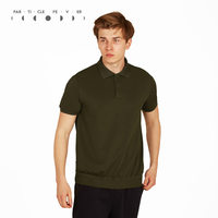 Particle Fever Army Green Quick Dry Short Sleeve Sports T Shirt Breathable Fitness Men Loose Training Top
