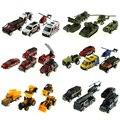 Baby toys car veículos diecast 1: 87 liga de metal 5 peças toys caminhão de bombeiros da polícia militar swat do menino modelo de carro de engenharia veículos