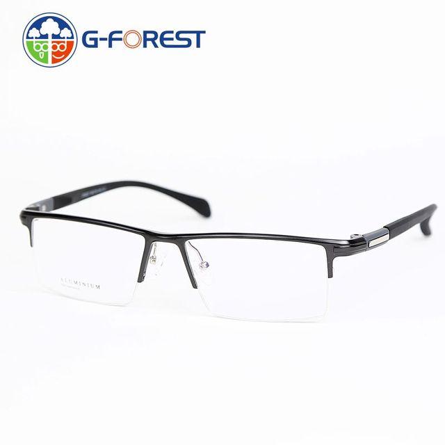 Бесплатная доставка очки мужчин очки оптические рецепту очки оптические frame половина обод Алюминиевый оправу очков GX6227