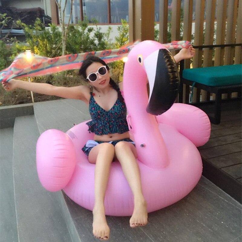 Giant Inflatable Flamingo Pool Float Swimming ring Inflatable Swan Float Flamingo Float Liferafts Pool Float women Pool Toys flamingo arm ring float