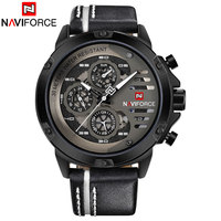 NAVIFORCE 2018 New China Brand Man Watches Luxury Sports Quartz Watch Rectangle Dials 30M Waterproof Auto Date Red Leather Band