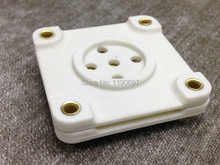 1Piece 4Pin 5Pin Tube Socket Ceramic Base Golden Plate For PX25 ML6 UF Tube Ceramic Socket Free Shipping