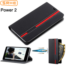 цена на SRHE For Leagoo Power 2 Case Cover Flip Leather With Card Holder Book Case For Leagoo Power 2 Power2 Phone Cover