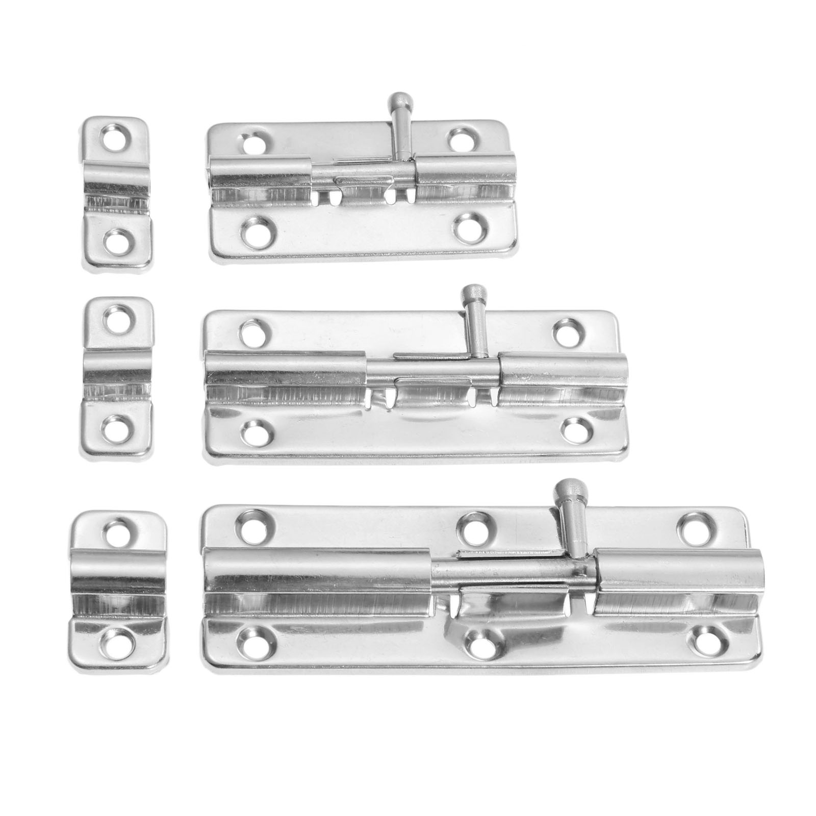 DRELD 1Pc 3/4/5 Inch Long Silver Stainless Steel Door Latch Sliding Lock Barrel Bolt Latch Hasp Stapler Gate Safety Lock цена