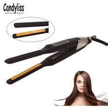 2 in 1 Hair Straightener + Curler Professional Hair Curling iron Straightening Flat Irons Salon Styler Styling Tools 2018 New