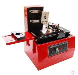 Image 1 - 2020 デスクトップ電気パッドプリンター機印刷機製品日付、小さなロゴ印刷 + 3 クリシェプレート + ゴムパッド
