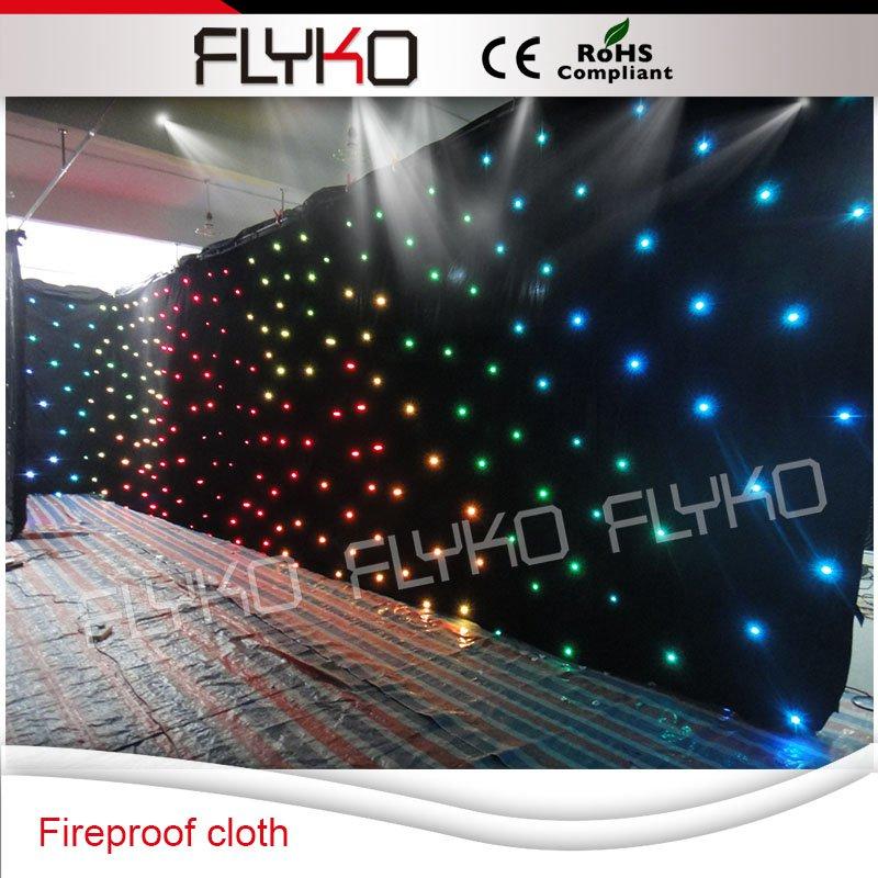 A prova di fuoco e flessibile 6x10 m LED stella tenda