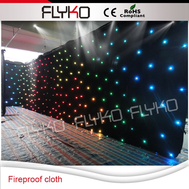 Ignifuge et flexible 6x10 m LED étoiles rideau