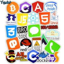 50 Pcs Internet Java JS Php Html Cloud Docker Bitcoin Programming Language APP Logo Cool Stickers for Laptop Car DIY Stickers js easy php page 4