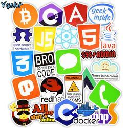 50 Pcs Internet Java JS Php Html Wolke Docker Bitcoin Programmierung Sprache APP Logo Coole Aufkleber für Laptop Auto DIY aufkleber