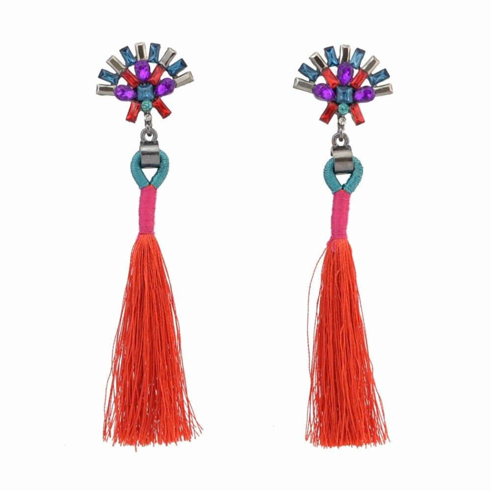 2017 Sales charm Crystal Earrings fashion Pendants tassel earrings gothic long earrings bohemian Jewelry accessories E888