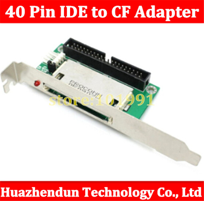 2pcs New 40 Pin IDE to Compact Flash CF Adapter Converter with PCI Bracket Back Panel Free shipping cf compact flash merory card to vertical 2 5 44 pin ide hard disk drive hdd ssd adapter