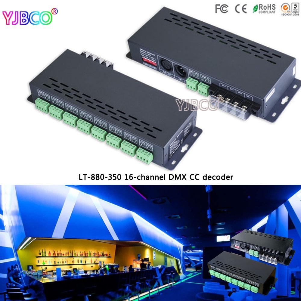 LT-880-350 16CH DMX-PWM constant current decoder driver;DC12-48V input;350ma*16CH output for led strip lights