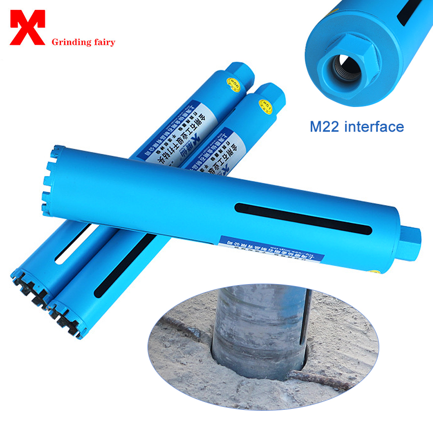 400mm Length Diamond Crown Drill Bit Core Bit For Concrete Air Conditioning Installation Masonry Drilling M22 Interface Hole Saw