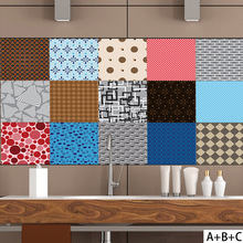 Retro stitching style PVC retro living room bedroom wallpaper wall sticker kitchen oilproof bathroom waterproof