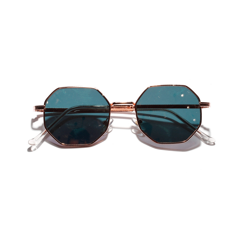 2019 Retro Polygon Sunglasses Men Women Luxury Pink Lens Round Sunglasses Vintage Small Frame Mirror Color Sunglasses
