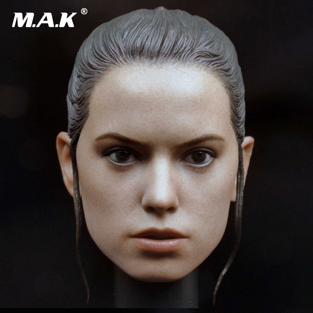 1/6 Scale Star War Daisy Ridley Rey Head Sculpt Beauty Headplay Model For 12 Female Action Body Figure mak custom 1 6 scale hugh jackman head sculpt wolverine male headplay model fit 12kumik body figures
