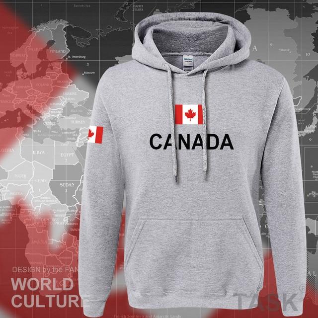 Canada 2017 hoodies men sweatshirt sweat new streetwear clothing jerseys footballer tracksuit nation Canadians flag fleece CA 5