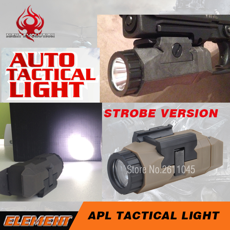 Night Evolution Softair Pistol Light For Glock 17 Auto APL Strobe Tactical Flashlight G17 Glock 19