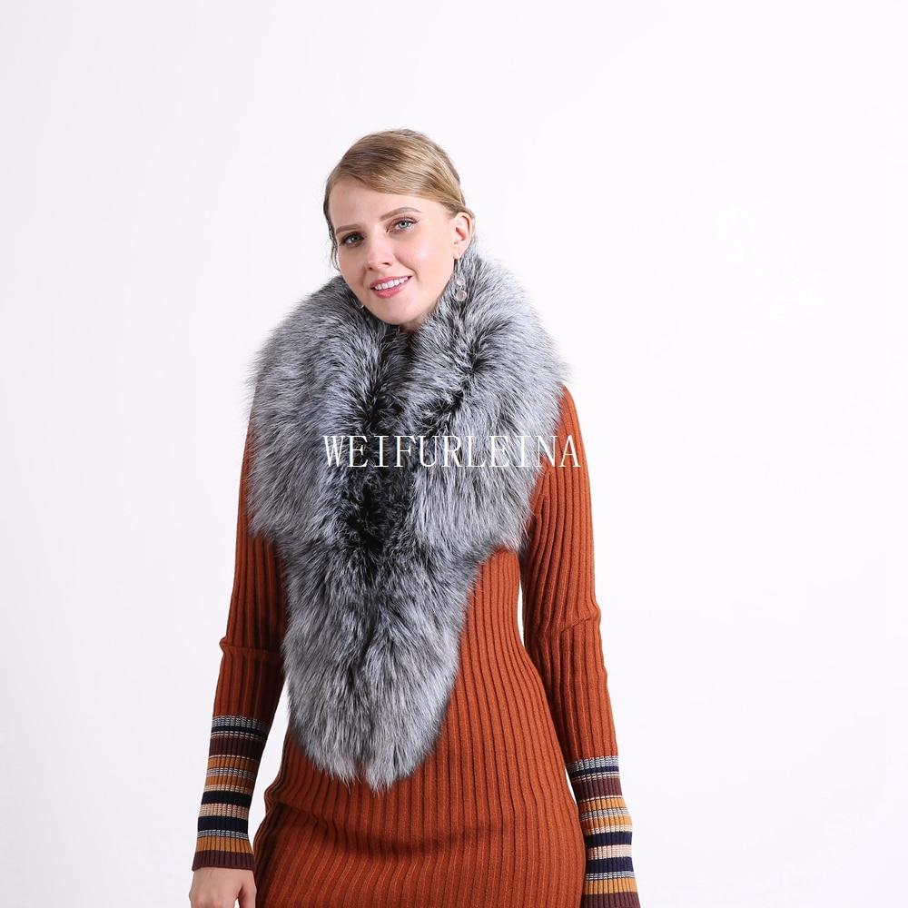 2018 Ring Fashion Solid Hot Sale Vinter 100% Natural Fur Shawl Luxury - Kläder tillbehör - Foto 4