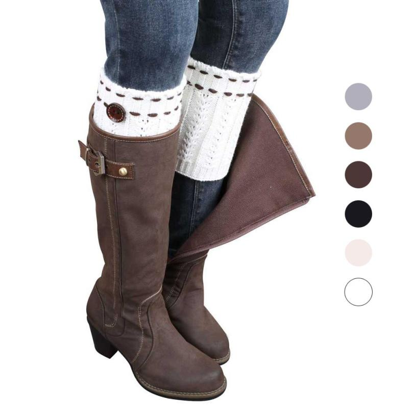 snowshine YLI 1 Pair Knitted Leg Warmers Socks Boot Cover