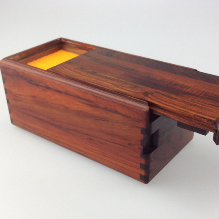 Mahogany red wood jewelry cartridge organ puzzle box jewelry box factory direct high-grade wood crafts