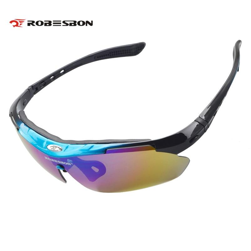 Prix pour Robesbon vélo lunettes avec cadre myopie coupe-vent moto lunettes de soleil polarisées vélo lunettes ski cyclisme lunettes