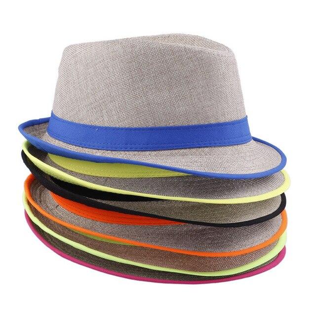 15 Cor da moda womem homens verão chapéu panamá fedora chapéu de Praia Doce  Cor de bb85d46f72d