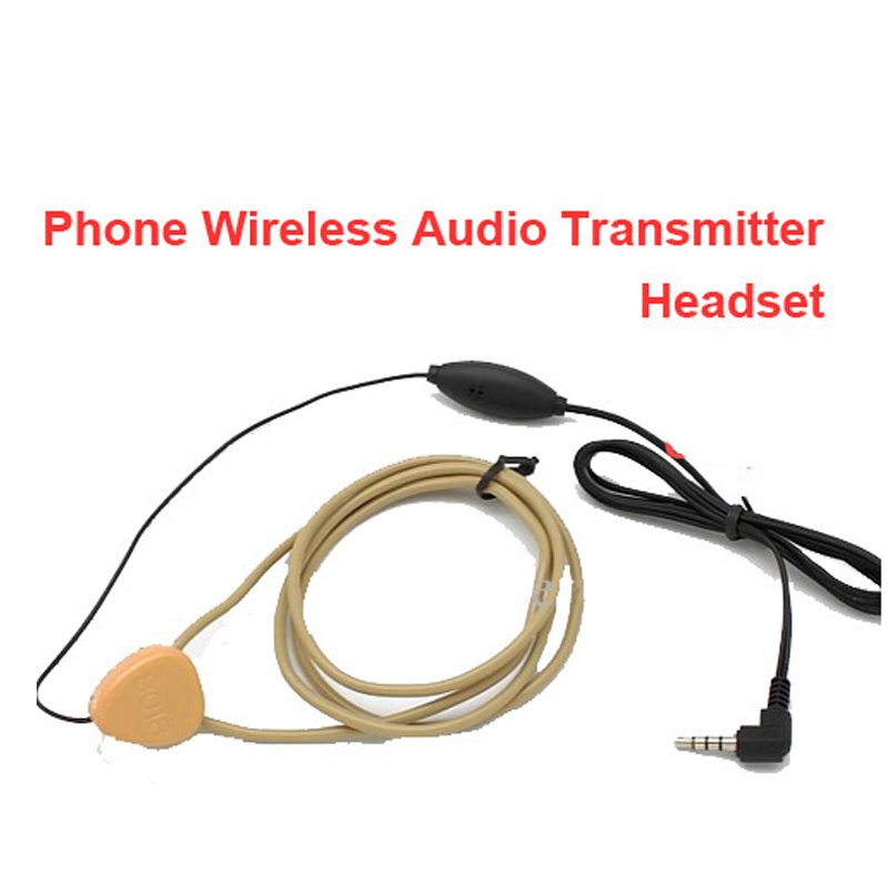 earphone cable voice transmitter function font b handsfree b font voice transmision for mobile phone and