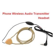 Función de transmisor de voz cable de los auriculares de manos libres de voz transmision para indución del teléfono móvil y los auriculares auricular