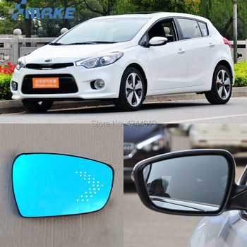 smRKE For KIA K3S Car Rearview Mirror Wide Angle Hyperbola Blue Mirror Arrow LED Turning Signal Lights