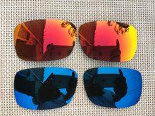 2 Pairs fuego rojo y azul marino lentes de reemplazo polarizadas para  cárter gafas de sol e83eedaad9