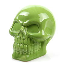 gothic ceramic skull money saving box cans gift piggy bank halloween decoration party favorchina - Ceramic Halloween Decorations