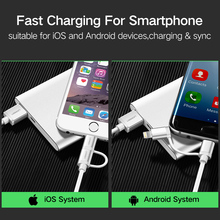 Ugreen 2in1 Lightning to Micro USB Cable for iPhone and Android